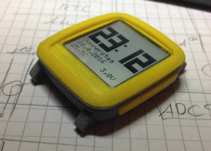 Chronio Arduino Smartwatch Complete With 3D Printed Case (video)
