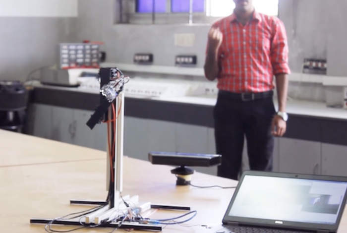 Gesture Controlled Robotic Arm Created Using Kinect Sensor
