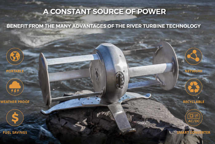 Idénergie Portable River Turbine Transforms Flowing Water Into Power (video)