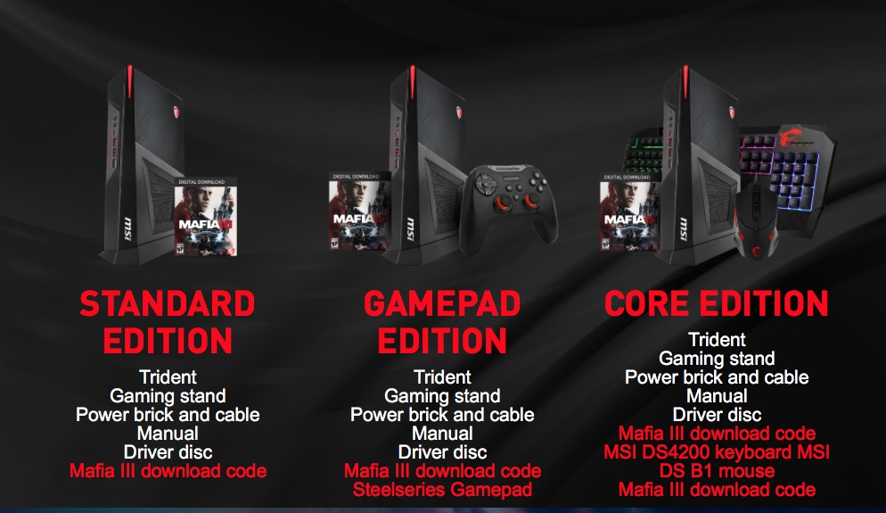 Msi Trident Vr Ready Compact Pc System Unveiled Geeky