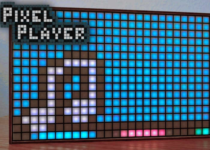 Pixel Player Retro Music Visualiser And Speaker