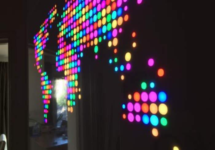 Raspberry Pi RGB LED Illuminated Map Of The World