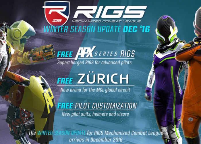 Rigs Mechanized Combat League December Update