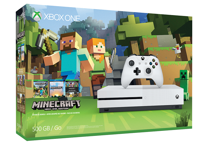 Xbox One S Minecraft Bundle 4K Unboxing