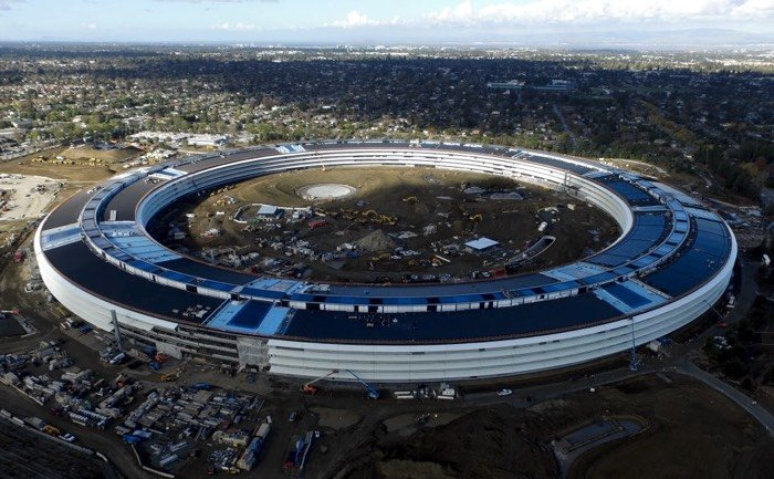 Watch the latest drone video of Apple's new $5 billion Cupertino campus