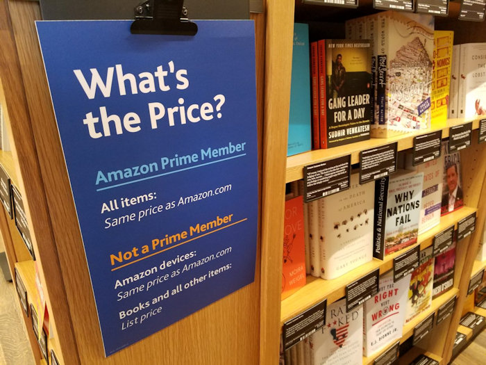Amazon Now Charging Both Prime And Non-Prime Prices At Physical Bookstores