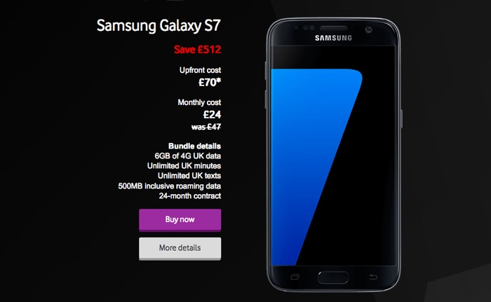 vodafone black friday deals include the samsung galaxy s7 and more geeky gadgets. Black Bedroom Furniture Sets. Home Design Ideas