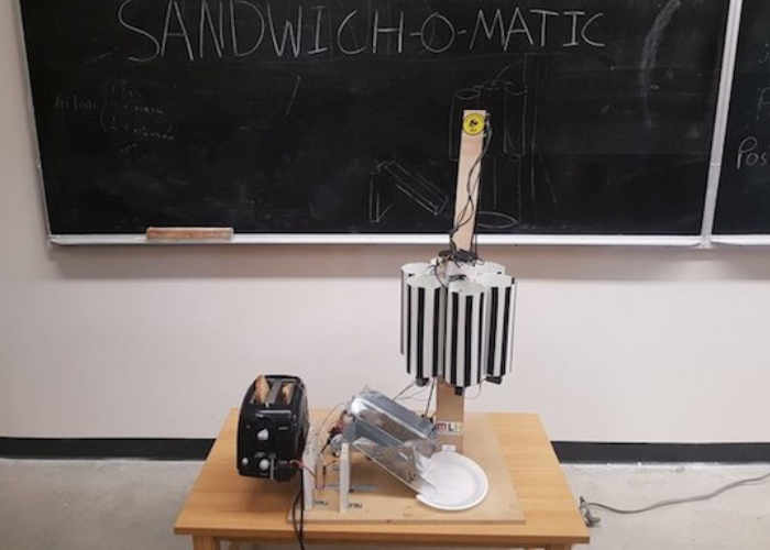 Arduino Powered Sandwich-O-Matic Machine