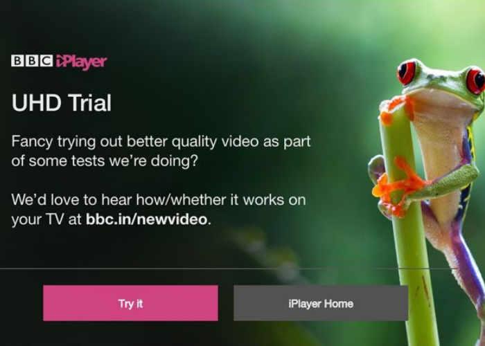 BBC iPlayer 4K