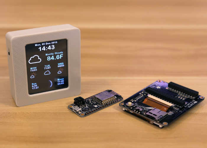 Arduino WiFi Weather Station Equipped With Colour TFT Display (video)