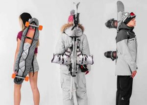 KrakenFix Minimalist Carrying Solution For Skis, Skateboards And More (video)