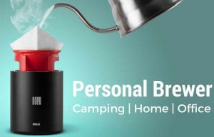 BRuX Compact Portable Personal Coffee Brewer (video)