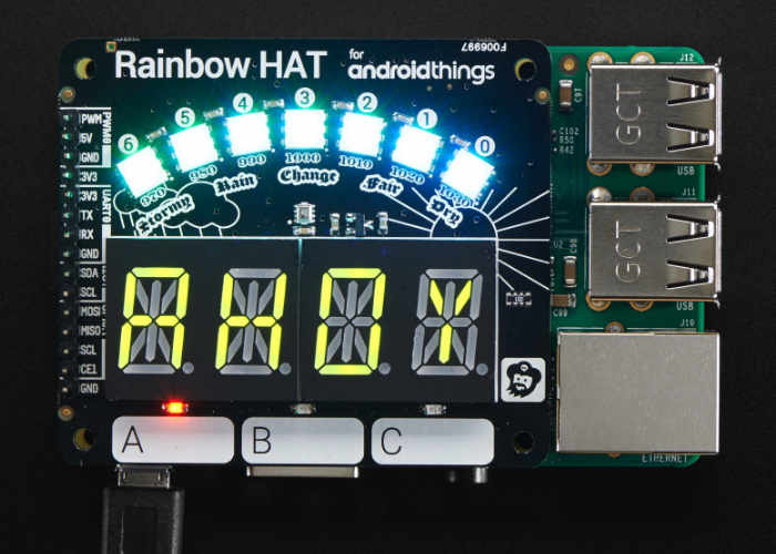 Raspberry Pi Pimoroni Rainbow HAT For Android Things