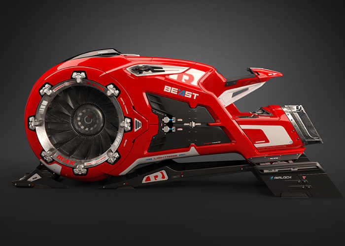 The Beast Hoverbike Concept