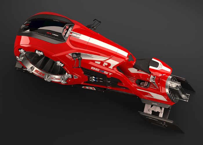 The Beast hover bike