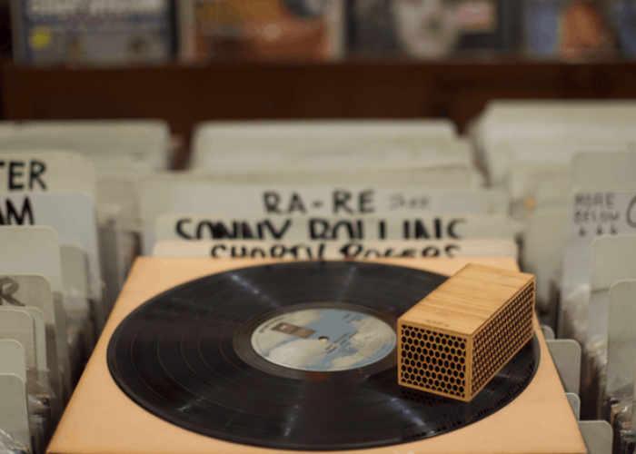 Unique RokBlok Bluetooth Vinyl Player