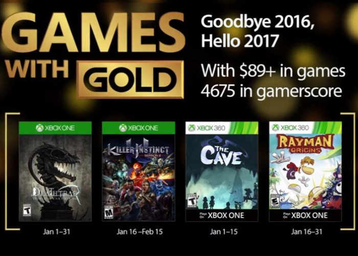 Xbox Live Games For January 2017