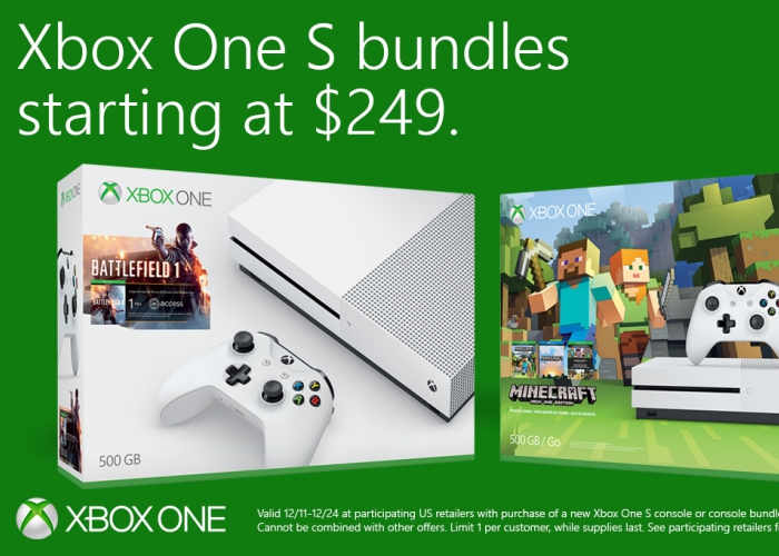 Xbox One S Bundles Now Reduced To $249