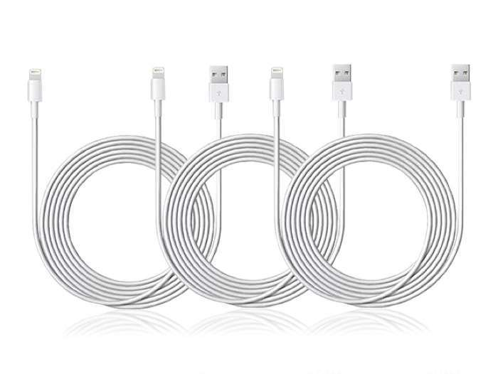 10-Ft MFi-Certified Lightning Cable 3-Pack
