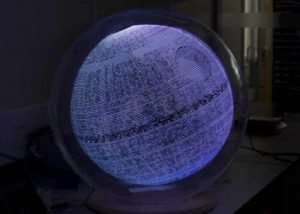 Awesome Raspberry Pi Death Star Vision Display (video)