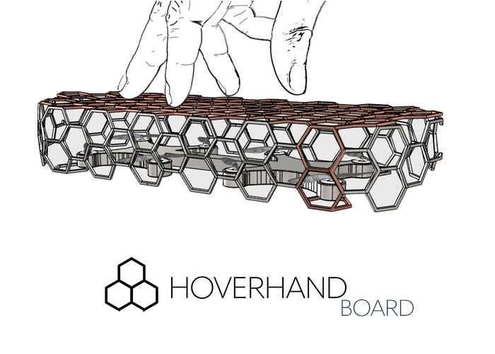 HoverHandBoard Unique Handheld Skateboard Drone