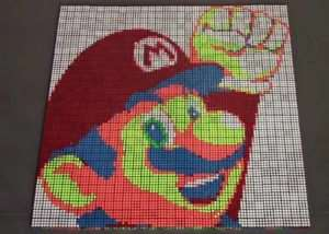 Rubik Cubes Used To Create Awesome Mario Stop Motion Animation And Others (video)