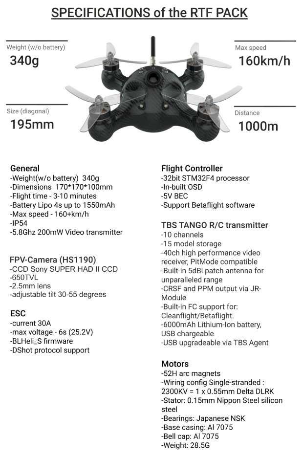 NIMBUS Monocoque Racing Drone