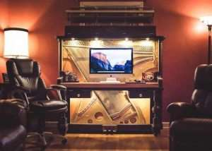 110-Year-Old Piano Saved And Transformed In To Awesome Piano Desk