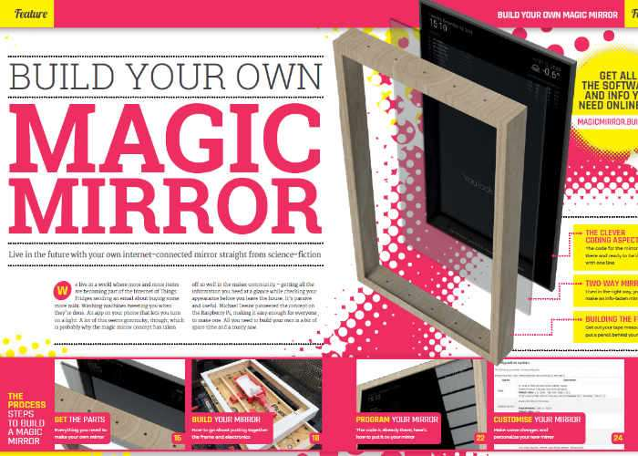 Raspberry Pi Magic Mirror