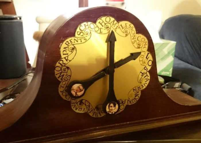 Raspberry Pi Powered Harry Potter Weasley Location Clock