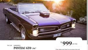 Rent the 1967 GTO from XXX via Turo