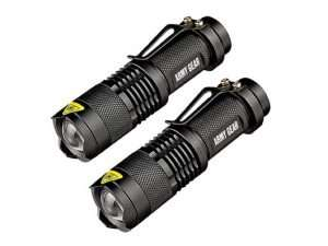 UltraBright 500 Lumen Tactical Military Flashlight 2-Pack, save 70%