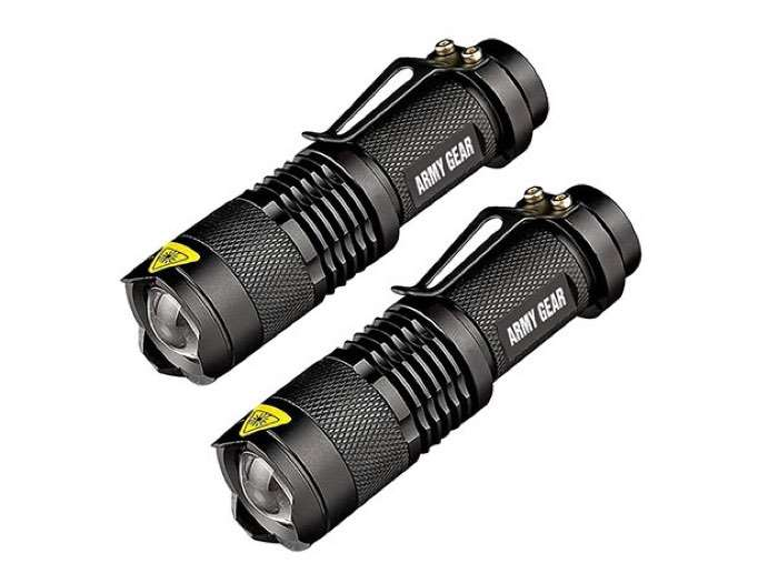 UltraBright 500 Lumen Tactical Military Flashlight 2-Pack