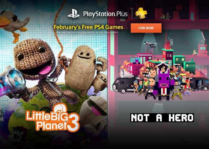 Free PS Plus Games For February 2017