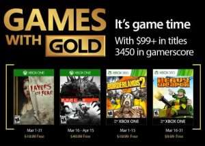 Free Xbox Live Games For March 2017 Announced (video)