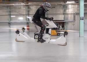 Hoversurf Scorpion-3 Hoverbike Demonstrated (video)