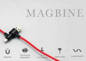 MAGBINE Multifunctional Magnetic Cable Support Both iOS And Android (video)
