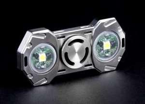 Microlight Flashlight Fidget Spinner (video)