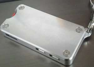 Raspberry Pi Zero Aluminium Keychain Case (video)