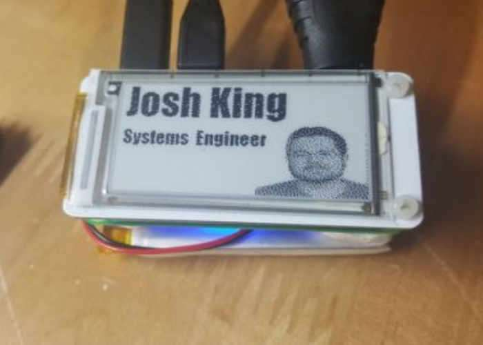 Raspberry Pi Zero PiE-Ink Name Badge