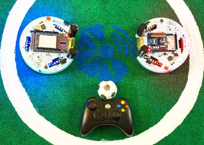 Soccer Playing Robots