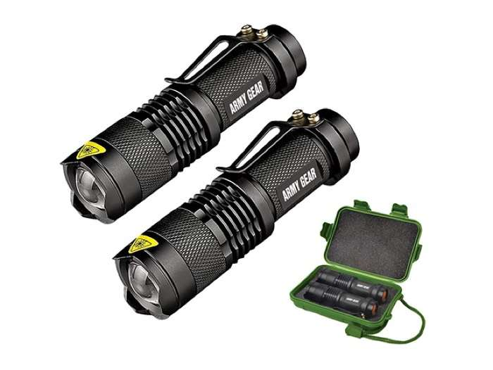 UltraBright 500-Lumen Tactical Military Flashlight 2-Pack
