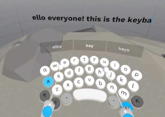 Virtual Reality PunchKeyboard