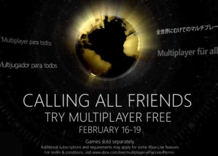 Xbox Free Multiplayer Access Available All Weekend For All