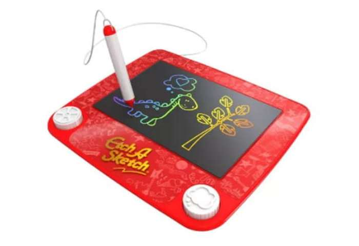 Play the magic screen or Etch-a-sketch - Kids entertainment
