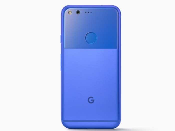 Blue Google Pixel