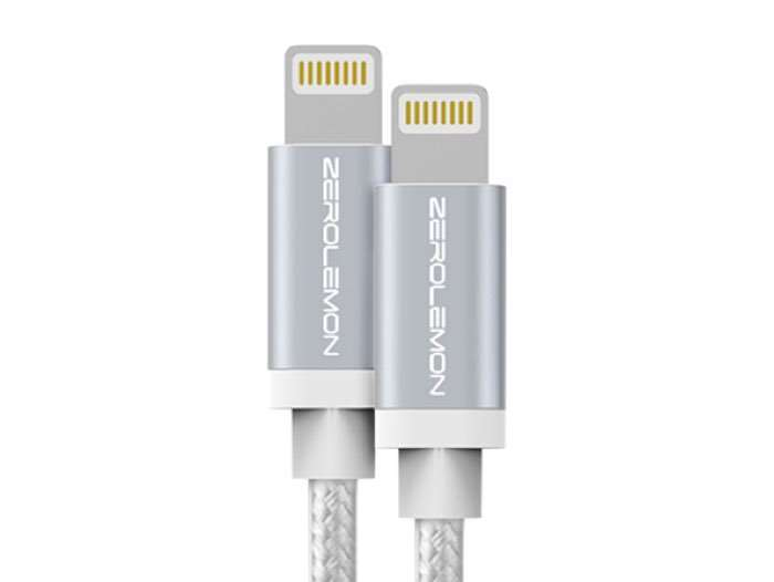 ZeroLemon Rugged MFi-Certified 2-Meter Lightning Cable: 2-Pack
