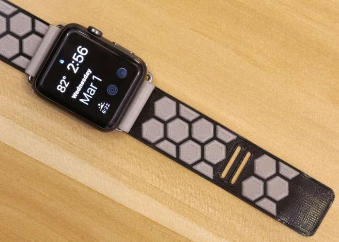 3D Printed Apple Watch Band Using Ninjaflex