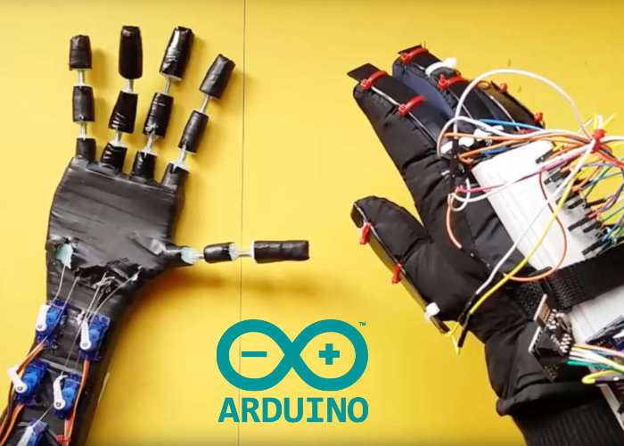Arduino robotic hand created by maker mertarduino video