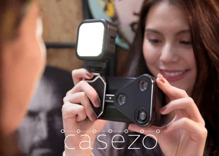 CASEZO iPhone 7 Case With Rail Mounted Camera Lens